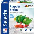 Selecta Babywelt Holz Greifling Klapper-Kroko Rasselspaß zum Klappern 61044
