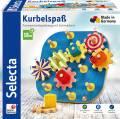 Selecta Kleinkindwelt Holz Motorikspielzeug Kurbelspaß Formen 62011
