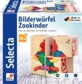 4 Teile Selecta Kleinkindwelt Holz Kinder Würfel Puzzle Zookinder 62050