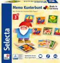 36 Teile Selecta Erste Spiele Holz Legekartenspiel Memo Kunterbunt 63017