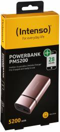 Intenso Powerbank mobile Ladestation PM metal finish 5200 mAh Ladegerät USB OUT rosé