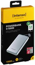 Intenso Powerbank mobile Ladestation Slim S 10000 mAh Ladegerät 2x USB OUT silber