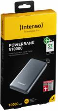 Intenso Powerbank mobile Ladestation Slim S 10000 mAh Ladegerät 2x USB OUT grau