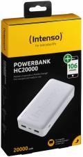Intenso Powerbank mobile Ladestation HC 20000 mAh Ladegerät USB Typ C 2x USB OUT weiß
