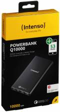 Intenso Powerbank mobile Ladestation Quick Charge Q 10000 mAh Ladegerät 2x USB OUT schwarz