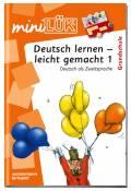 LÜK miniLÜK Buch Deutsch lernen - leicht gemacht 1 ab 6 Jahren 493