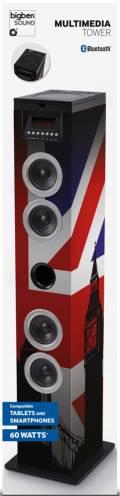 Bigben Bluetooth Lautsprecher System Sound Tower TW12CD Union Jack AU357677