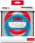 2 Bigben Nintendo Switch Twin Wheel Lenkrad Aufnahme Joy-Con blau rot BB356991