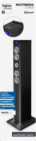 Bigben Bluetooth Lautsprecher System Sound Tower TW9EQ schwarz LED weiß AU342956