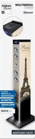 Bigben Bluetooth Lautsprecher System Sound Tower TW9EQ Paris LED farbig AU343908