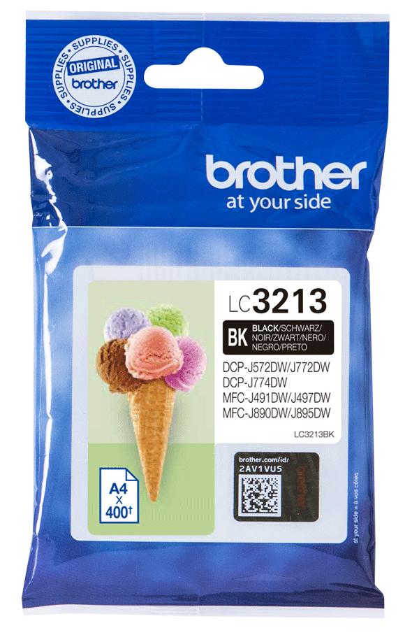 Brother Druckerpatrone Tinte LC-3213 BK black, schwarz