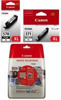 6 Canon Druckerpatronen Tinte PGI-570 XL PGBK / CLI-571 XL BK / C / M / Y / GY Multipack