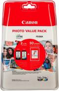 2 Canon Druckerpatronen Tinte PG-545 XL BK / CL-546 XL tri-color Multipack inkl. Fotopapier