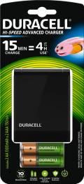 Duracell Akku Ladegerät Charger CEF27 Speedy 2x AA 1300mAh 2x AAA 750 mAh
