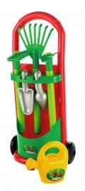 Ecoiffier Outdoor Spielzeug Gartenhelfer Gärtner Trolley rot, grün 7600000339