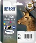 3 Epson Druckerpatronen Tinte T1306 C / M / Y Multipack