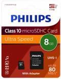 Philips Micro SDHC Karte 8GB Speicherkarte UHS-I U1 Class 10