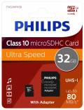 Philips Micro SDHC Karte 32GB Speicherkarte UHS-I U1 Class 10
