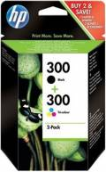 2 HP Druckerpatronen Tinte Nr. 300 BK / tri-color Multipack