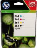 4 HP Druckerpatronen Tinte Nr. 364 BK / C / M / Y Multipack