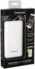Intenso Powerbank mobile Ladestation Slim S 10000 mAh Ladegerät 2x USB OUT weiß
