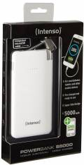 Intenso Powerbank mobile Ladestation Slim S 5000 mAh Ladegerät 2x USB OUT weiß