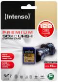 Intenso SDXC Karte 128GB Speicherkarte UHS-I Premium 45 MB/s Class 10
