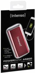 Intenso Powerbank mobile Ladestation Alu 5200 mAh Ladegerät USB OUT rot
