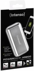 Intenso Powerbank mobile Ladestation Alu 5200 mAh Ladegerät USB OUT silber