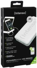 Intenso Powerbank mobile Ladestation HC 15000 mAh Ladegerät USB Typ C 2x USB OUT weiß