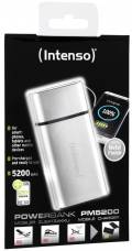 Intenso Powerbank mobile Ladestation PM metal finish 5200 mAh Ladegerät USB OUT silber