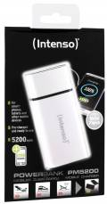 Intenso Powerbank mobile Ladestation PM metal finish 5200 mAh Ladegerät USB OUT weiß