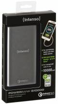 Intenso Powerbank mobile Ladestation Quick Charge Q 10000 mAh Ladegerät 2x USB OUT silber