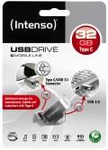 Intenso USB Stick 32GB Speicherstick cMobile Line silber Typ C USB 3.1 mit USB 3.0