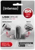 Intenso USB Stick 64GB Speicherstick iMobile Line Pro anthrazit USB 3.0 mit Apple Lightning