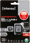 Intenso Micro SDHC Karte 32GB Speicherkarte UHS-I professional 90 MB/s Class 10