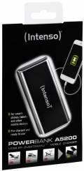 Intenso Powerbank mobile Ladestation Alu 5200 mAh Ladegerät USB OUT schwarz