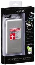 Intenso Powerbank mobile Ladestation Slim S 10000 mAh Ladegerät 2x USB OUT silber