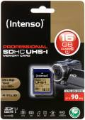 Intenso SDHC Karte 16GB Speicherkarte UHS-I professional 90 MB/s Class 10