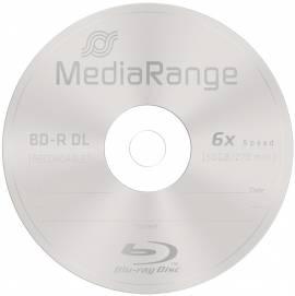 10 Mediarange Rohlinge Blu-ray BD-R Dual Layer 50GB 6x Spindel - Bild vergrößern