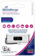 Mediarange USB Stick 64GB Speicherstick silber USB 3.0