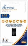 Mediarange USB Stick 8GB Speicherstick Nano inkl. Schlüsselanhänger schwarz