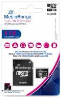 Mediarange Micro SDHC Karte 8GB Speicherkarte Class 10