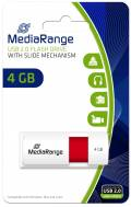 Mediarange USB Stick 4GB Speicherstick Color Edition rot