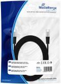 Mediarange Netzwerkkabel Patchkabel Cat.5e S/FTP 5 m schwarz