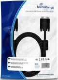 Mediarange VGA Monitor Kabel 1,8 m schwarz