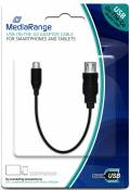 Mediarange USB - Micro USB Kabel OTG Adapter 20 cm schwarz