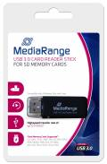 Mediarange Card Reader Stick Card SD / SDHC / SDXC schwarz USB 3.0