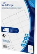 1200 Mediarange Etiketten Label selbstklebend 70 x 37 mm auf 50 A4 Bogen