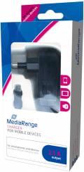 Mediarange USB Ladegerät Charger Universal Micro USB Kabel schwarz Restposten